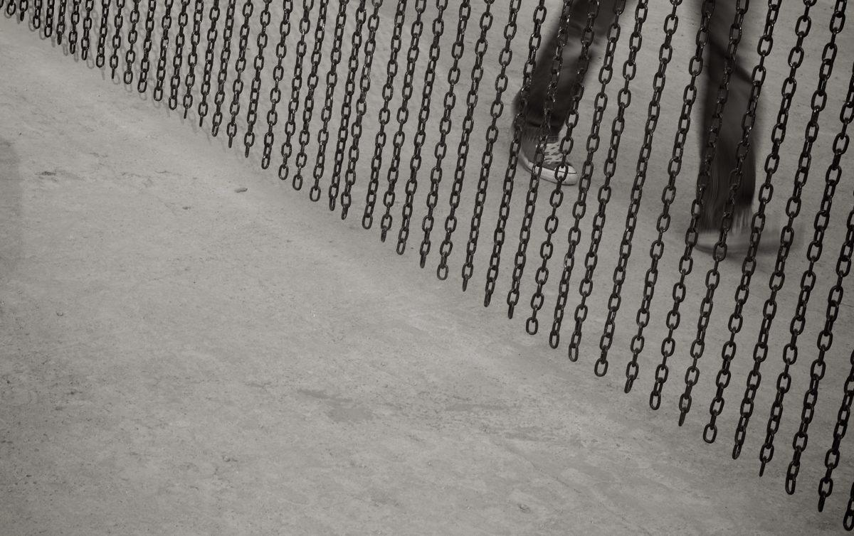 støbejern, kæde, jern, Ben, metal, abstrakt, kolde, materiale