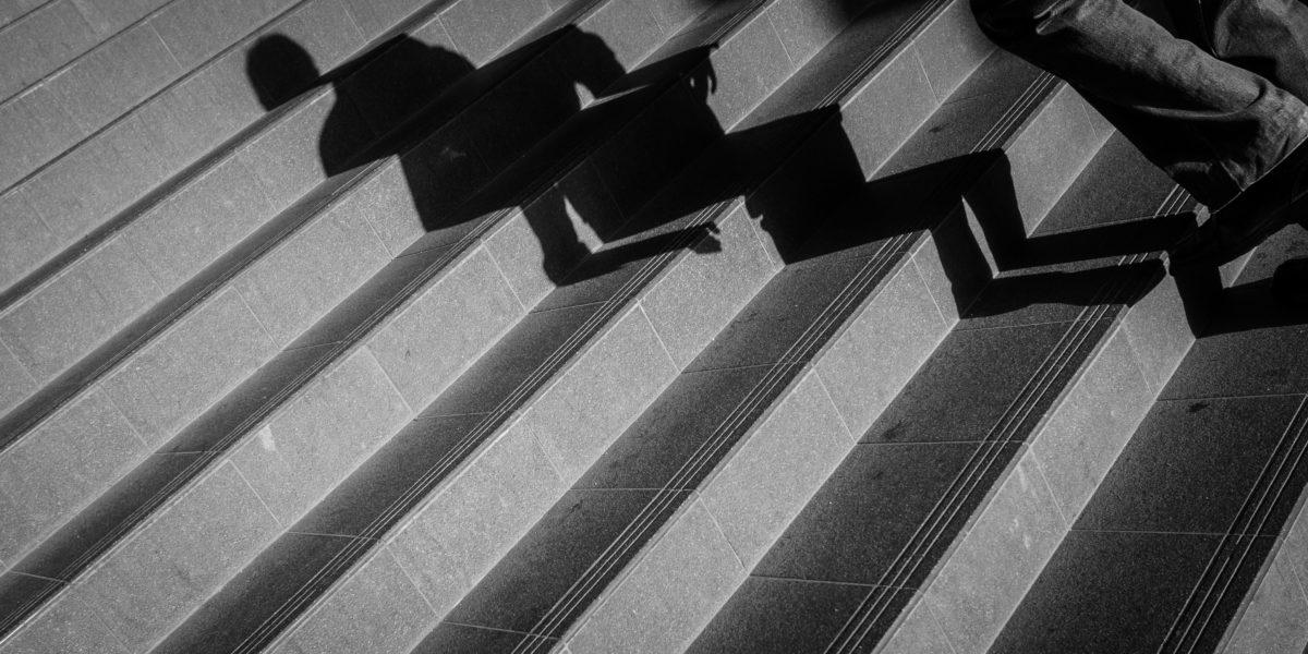 оцветяване, сянка, стълбище, стълби, стълбище, абстрактни, архитектура, изкуство