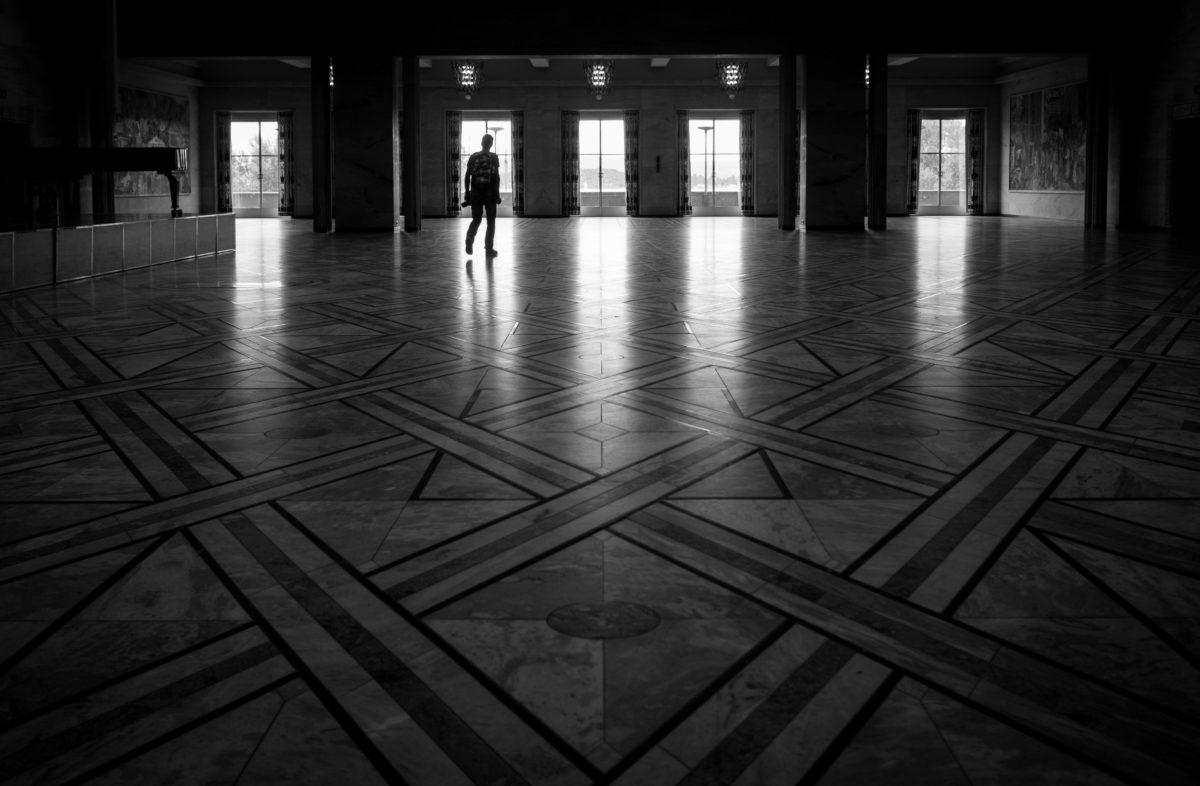 architectural style, architecture, building, city, dark, door, floor, hall