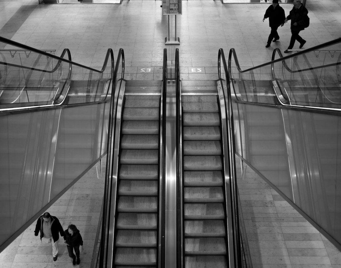 dizalo, trgovina, kupovina, struktura, zračna luka, pokretne stepenice, ljudi, arhitektura