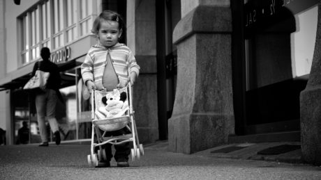 monochrome, people, child, street, woman, baby, portrait, chair