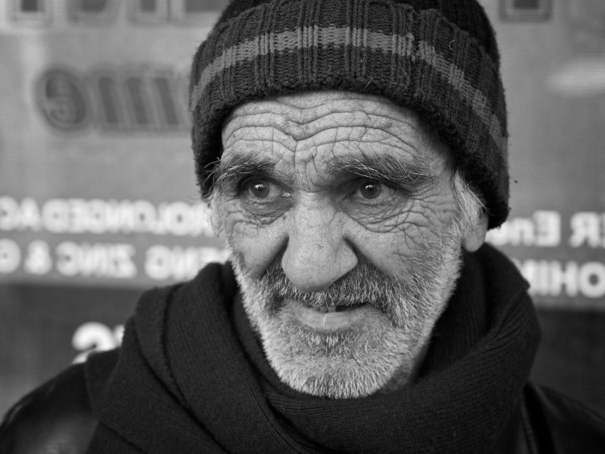 retrato, homem, pessoas, avô, cara, pessoa, Senior, rua
