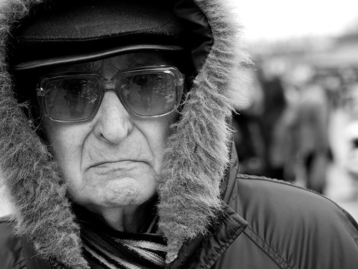 Glasögon, solglasögon, man, porträtt, personer, Glasögon, gata, ansikte