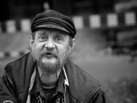 hat, mustache, outfit, person, people, man, portrait, street