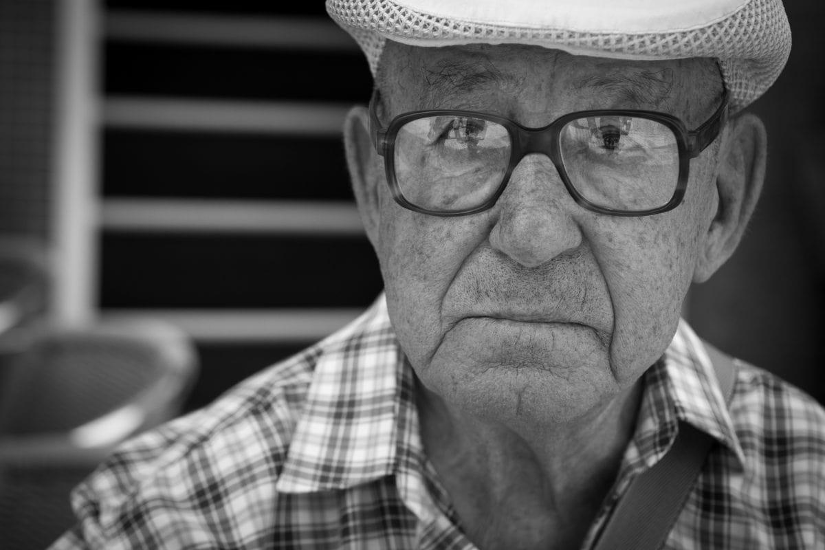folk, mand, Portræt, hat, bedstefar, monokrom, ældste, ansigt
