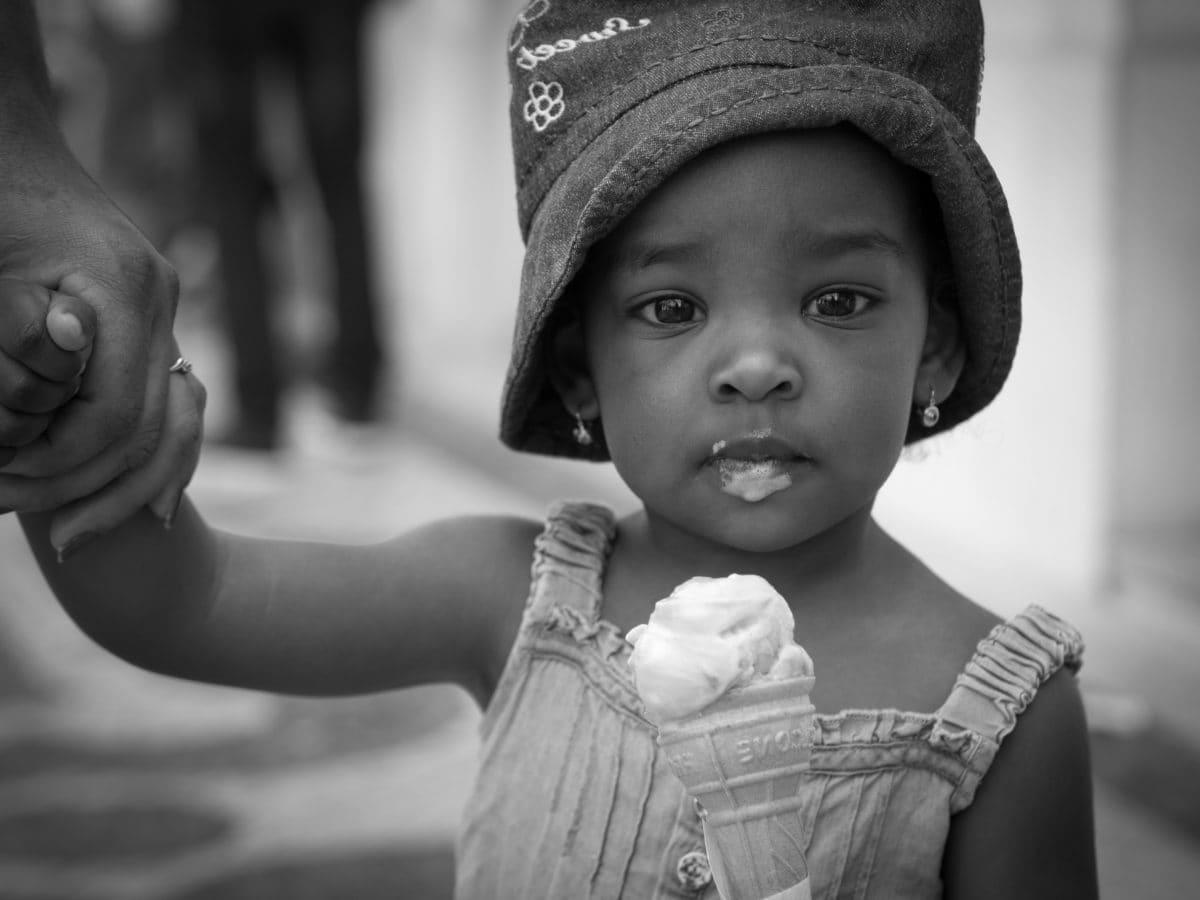 Μόδα, καπέλο, παγωτό, στολή, Όμορφο κορίτσι, άτομα, ο γιος, μωρό