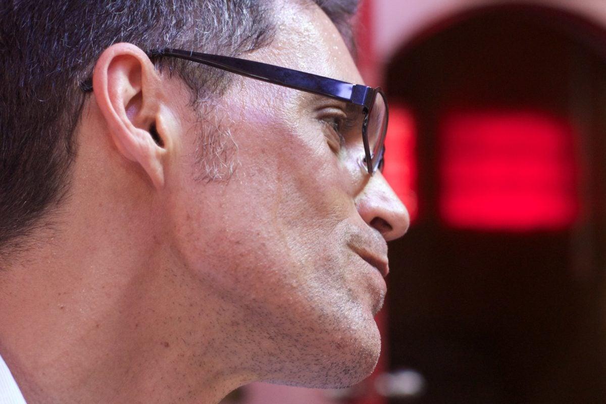 skæg, briller, Portræt, mand, ansigt, folk, profil, atlet