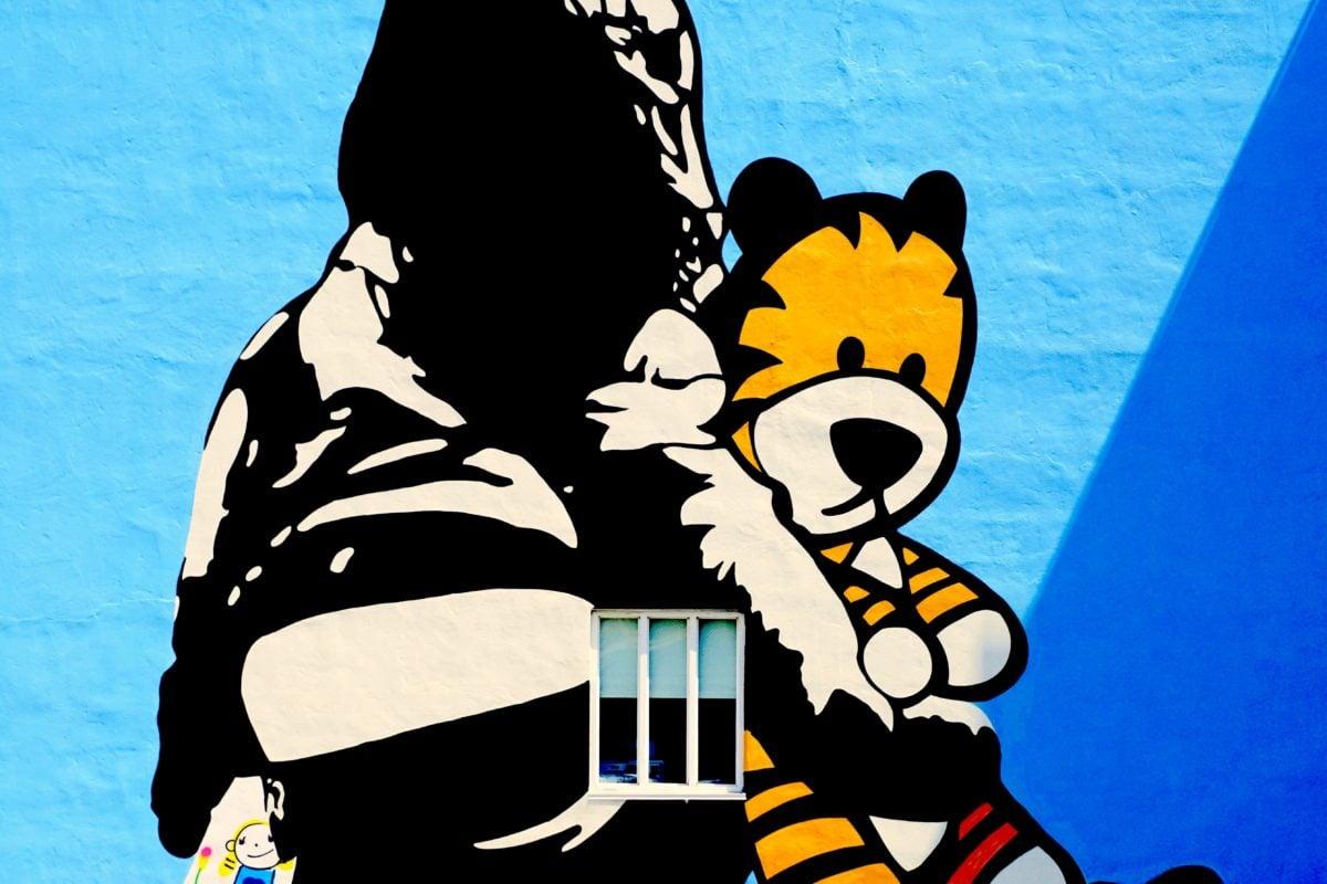 crtani film, kreativnost, smiješno, grafiti, zid, ilustracija, umjetnost, portret