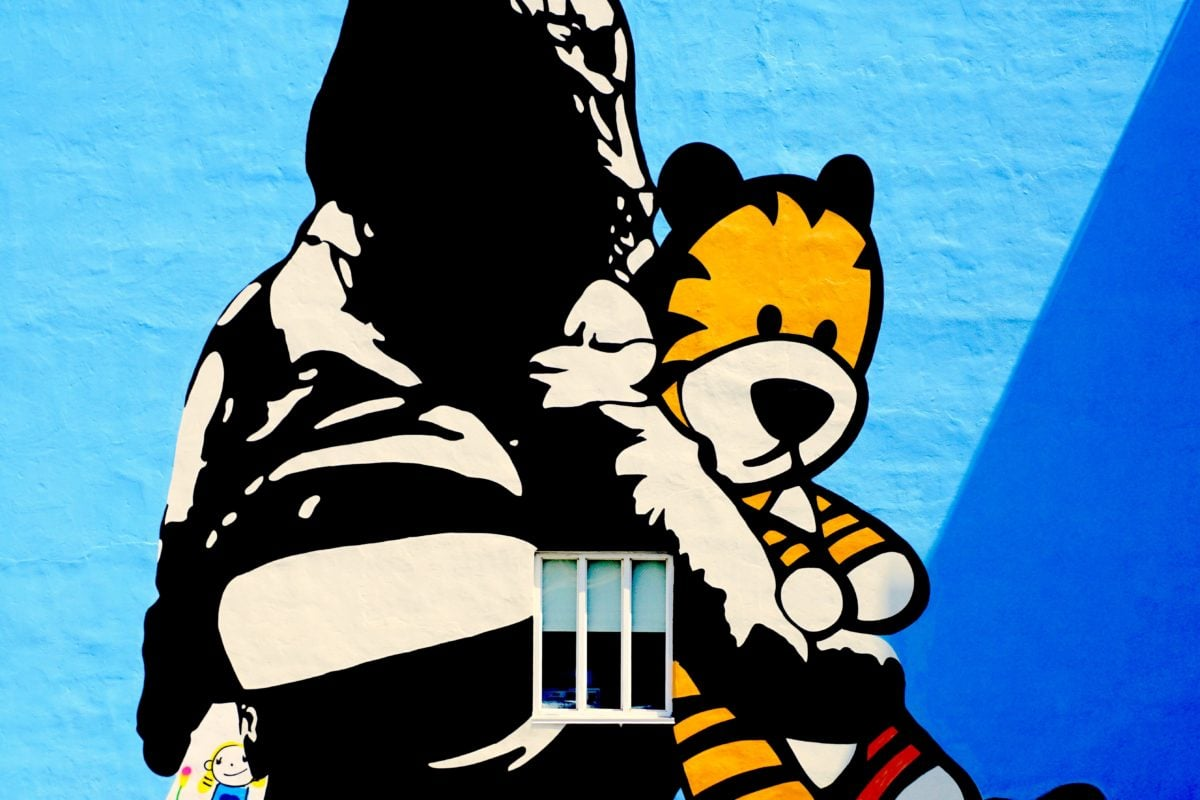 dessin animé, créativité, drôle, Graffiti, mur, illustration, art, Portrait