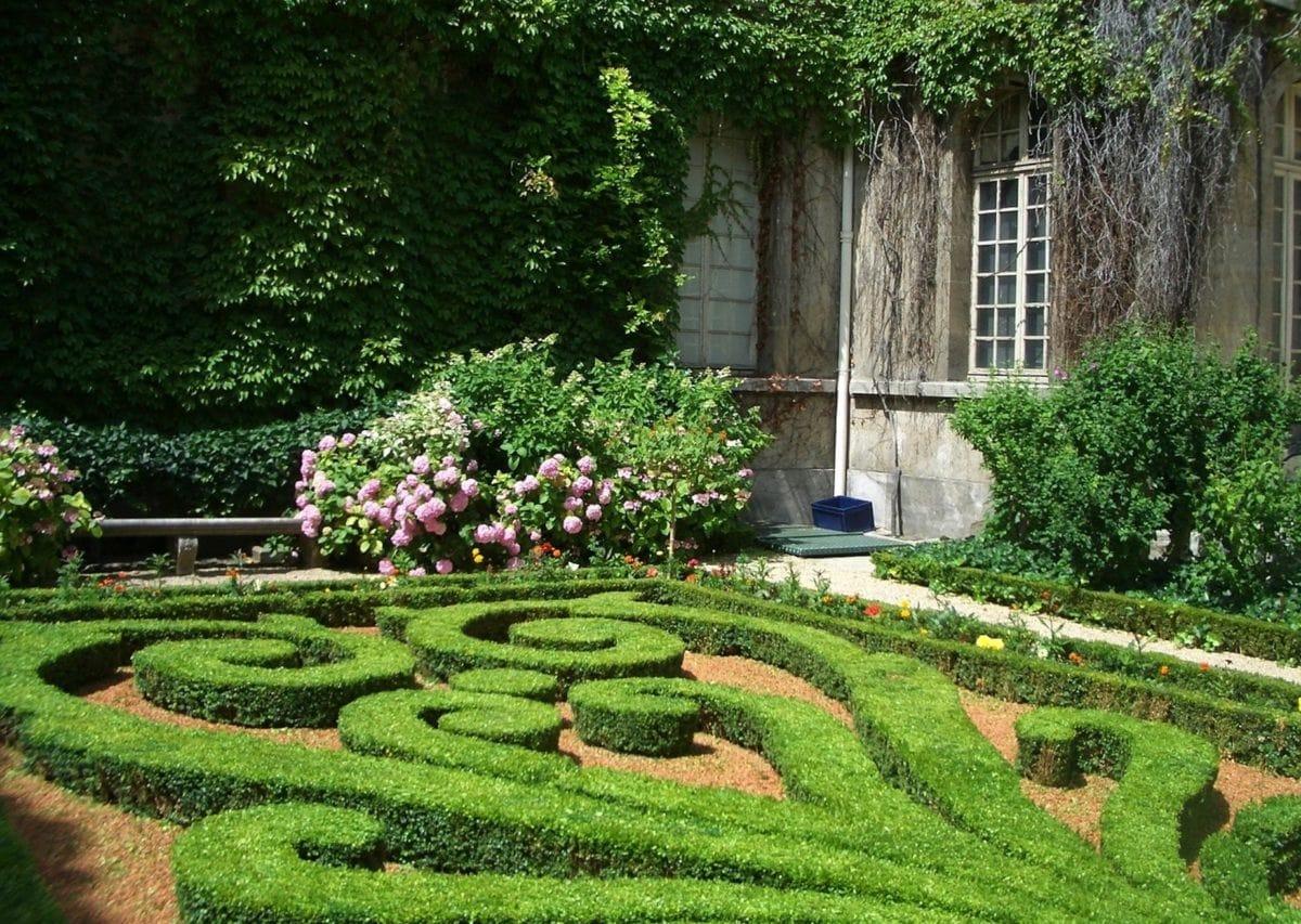 blomst, haven, landskab, hedge, Topiary, hjem, sommer, græsplæne