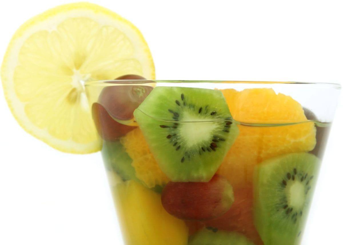 ค็อกเทล, ค็อกเทลผลไม้, น้ำผลไม้, รับประทานอาหาร, กีวี, น้ำผลไม้, หวาน, อาหาร