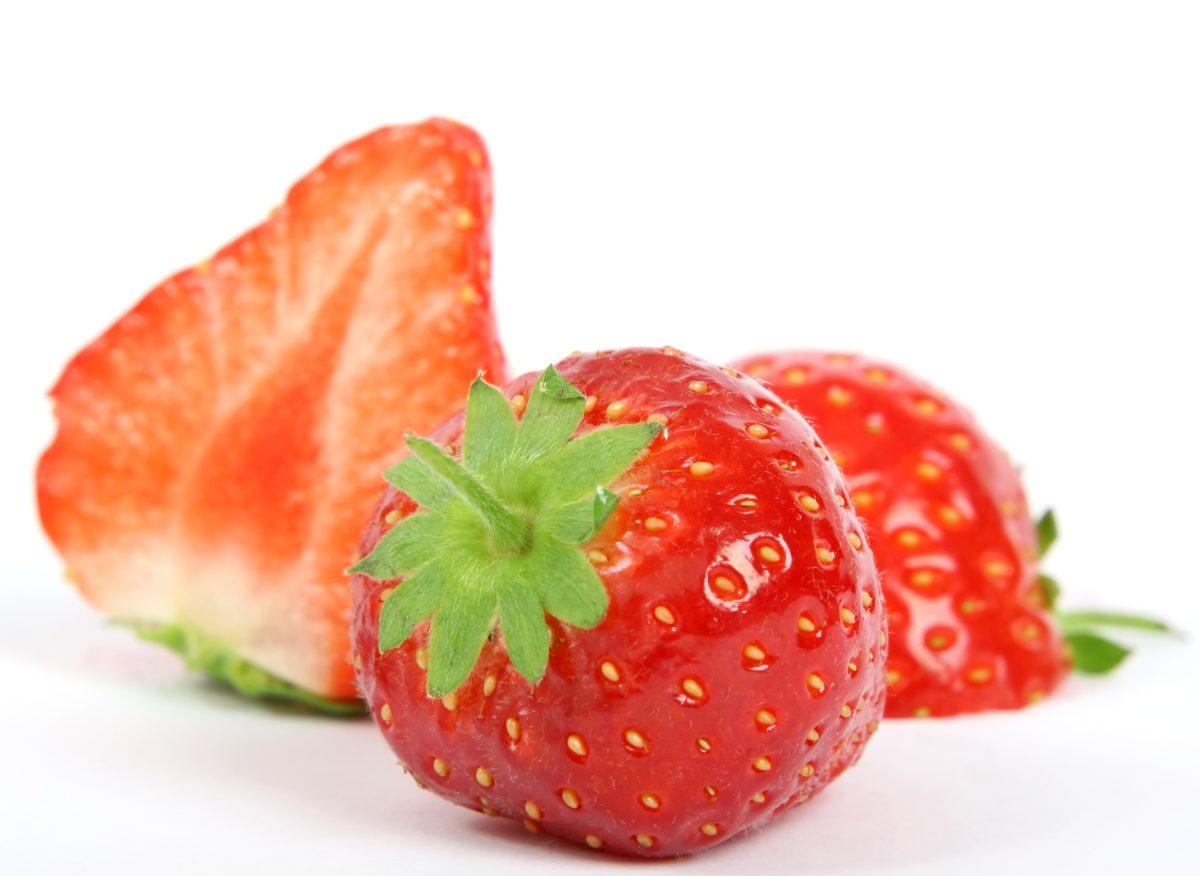 rosy, jedzenie, pyszne, truskawka, owoce, odżywianie, liść, jagoda