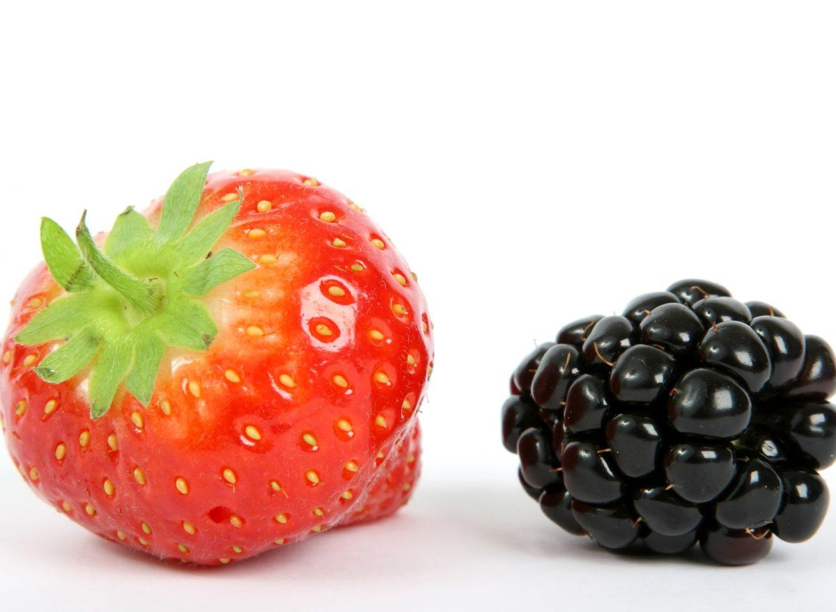frugt, jordbær, Sød, bær, brombær, lækker, mad, dessert