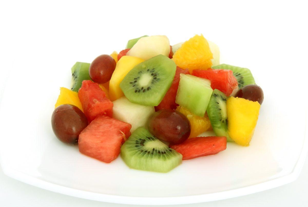 плодове, салата, диета, храна, хранене, вкусни, киви, сладко