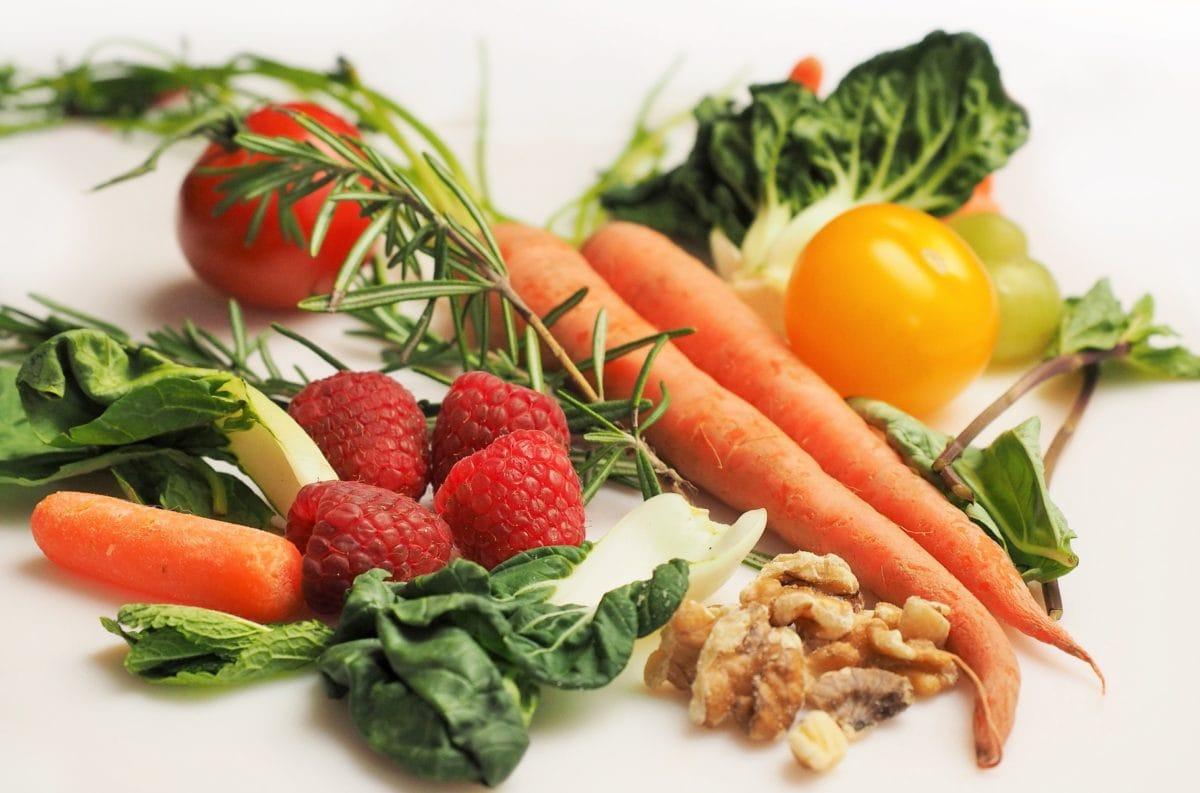 органични, зеленчуци, вегетариански, салата, диета, домат, обяд, маруля