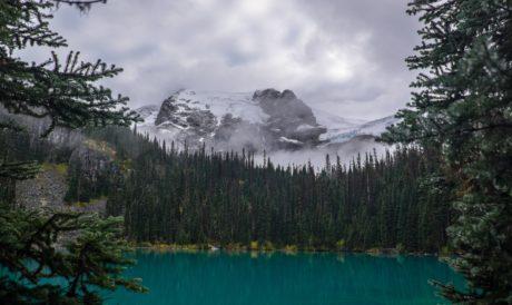 víz, erdő, tó, táj, gleccser, fa, hegyi, természet