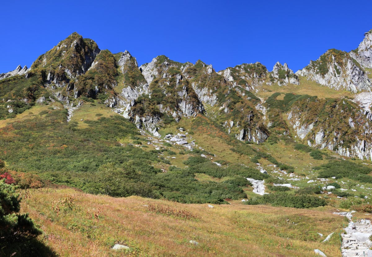 bjerg, natur, opstigningen, landskab, sky, græs, sommer, dalen