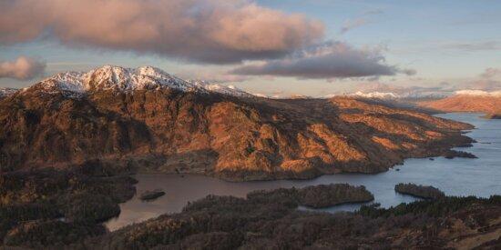 Canyon, montagne, Nuage, paysage, eau, vallée de, coucher de soleil, aube