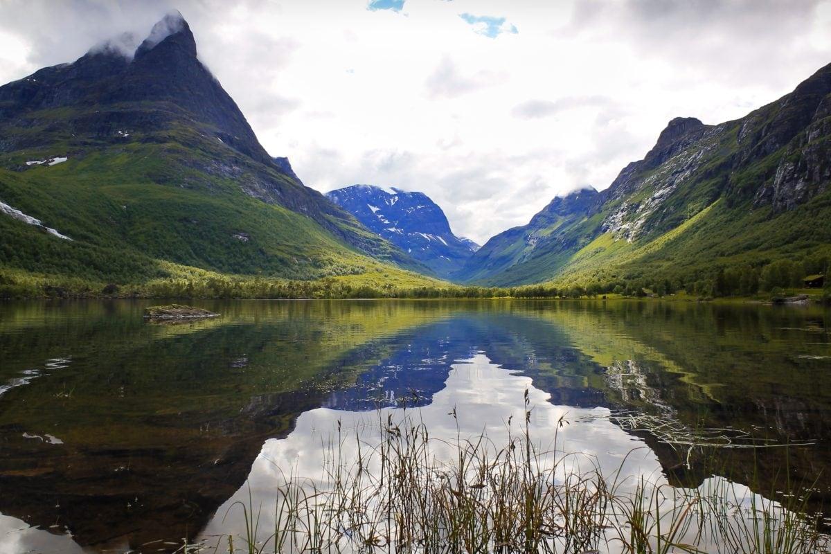 Národný park, údolie, les, Ľadovec, Príroda, jazero, voda, vrch