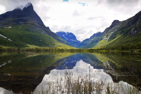 national park, valley, forest, glacier, landscape, lake, water, mountain