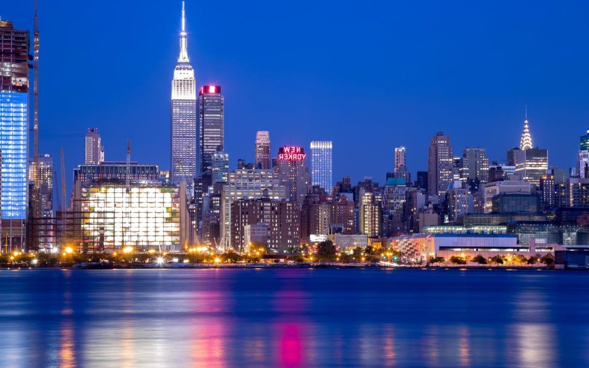 paesaggio urbano, Città, Skyline, grattacielo, architettura, lungomare, crepuscolo, Viaggi