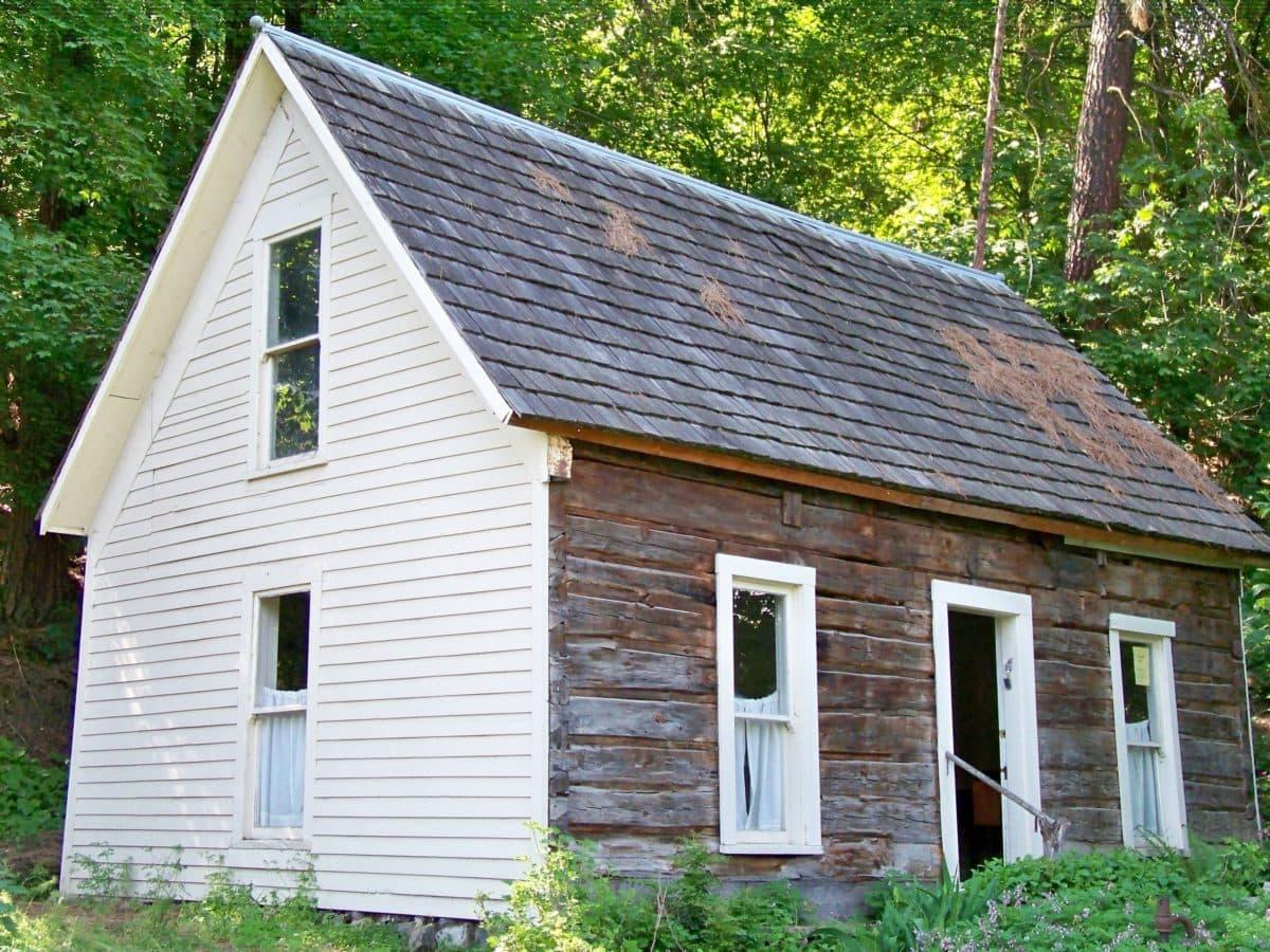 materiale, taktekking, hjem, arkitektur, familie, huset, eiendom, tre