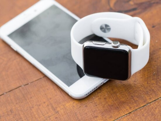 white, wristwatch, technology, telephone, still life, business, table, wood
