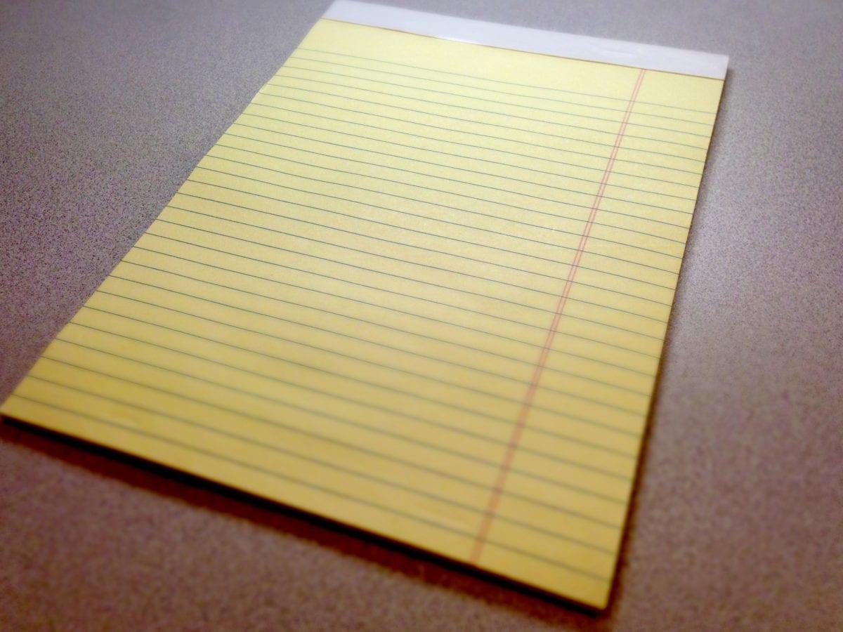 Merk, papir, tom, notatblokk, glanset, bok, siden, utdanning