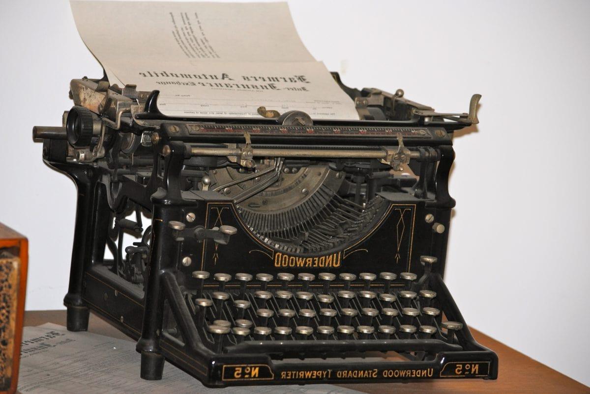 unité, vieux, antique, Vintage, Retro, technologie, machine à écrire, nostalgie