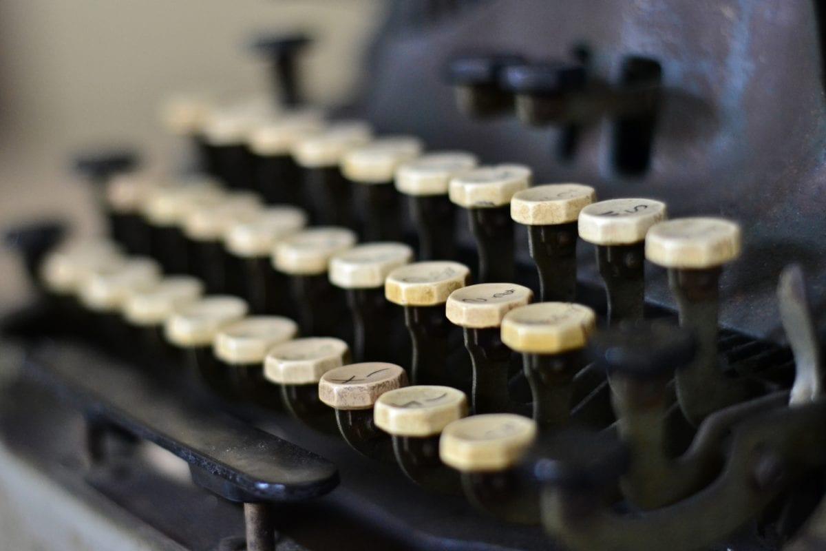 unité, clavier, machine à écrire, type, fermer, technologie, à l'intérieur, entreprise