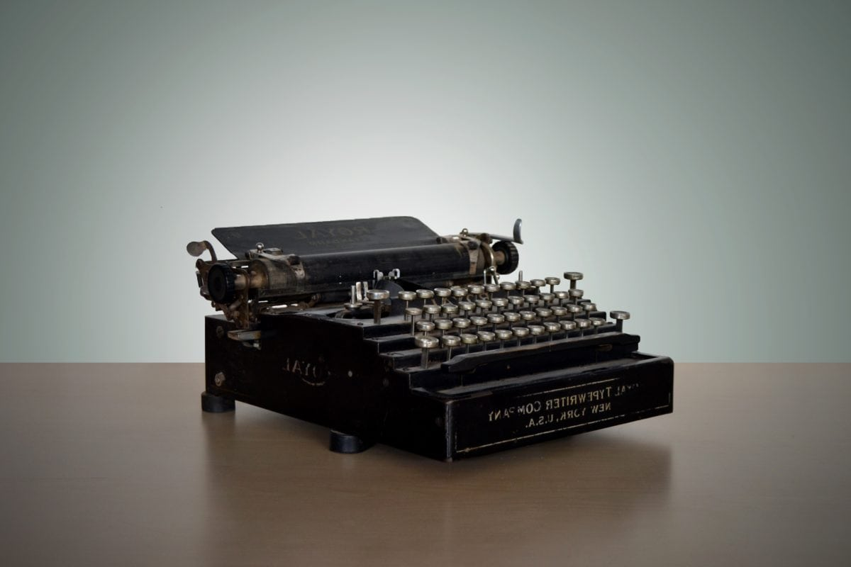 device, portable, typewriter, retro, technology, indoors, electronics, antique