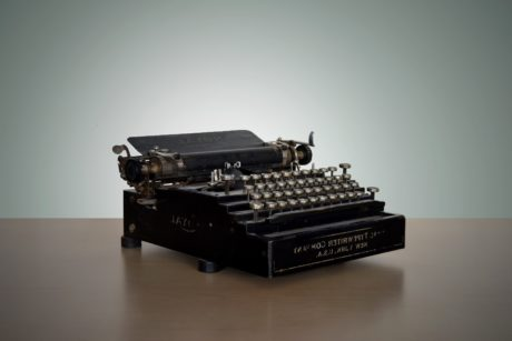 device, portable, typewriter, retro, technology, indoors, electronics, antique