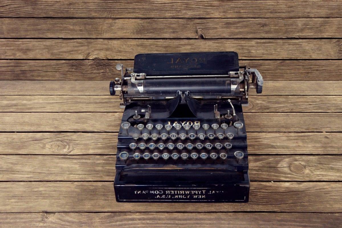 mesin tik, model tahun, papan tombol jari, perangkat, retro, antik, lama, Nostalgia