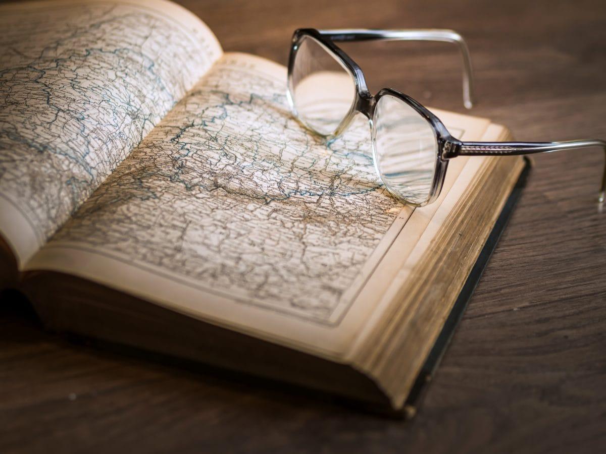 bok, briller, geografi, produkt, litteratur, visdom, siden, kunnskap