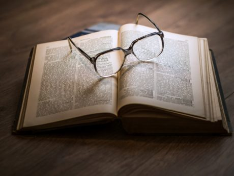 eyeglasses, paper, page, education, book, literature, knowledge, business