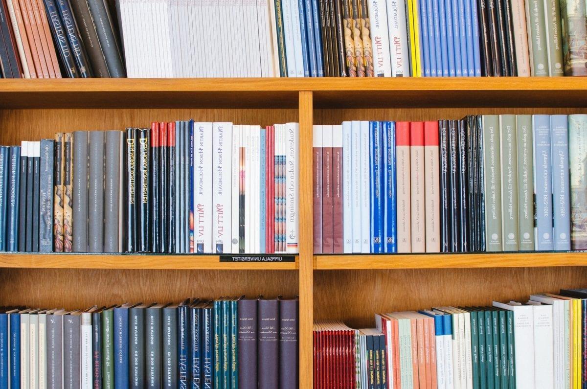 Knihovna, vzdělání, znalosti, literatura, knihovna, police, kniha, škola