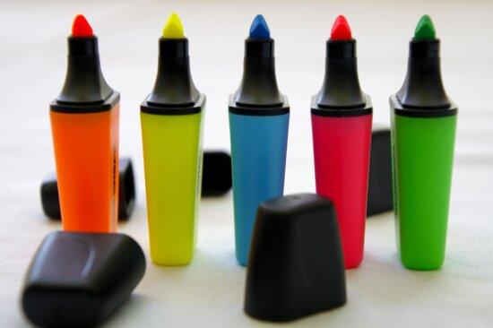 Buntstift, Kunststoff, Container, Farbe, Kreativität, Glas, Still-Leben, Gruppe