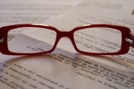 briller, briller, linsen, solbriller, briller, ramme, papir, dokumentet