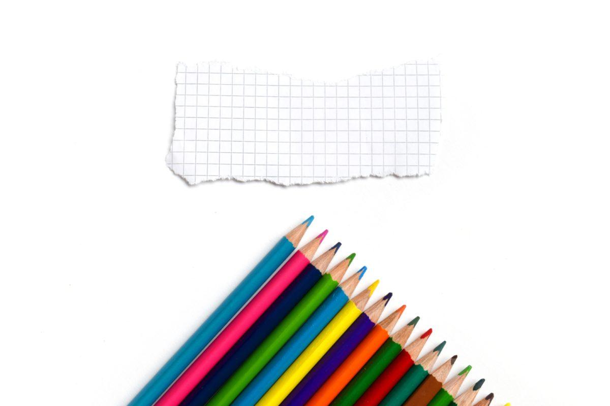 onderwijs, potlood, school, Krijt, regenboog, papier, bureaublad, studie
