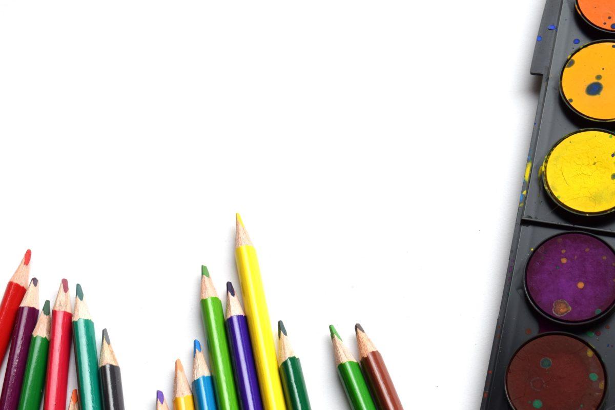 olovka, sastav, krejon, paleta, obrazovanje, kreativnost, škola, boja