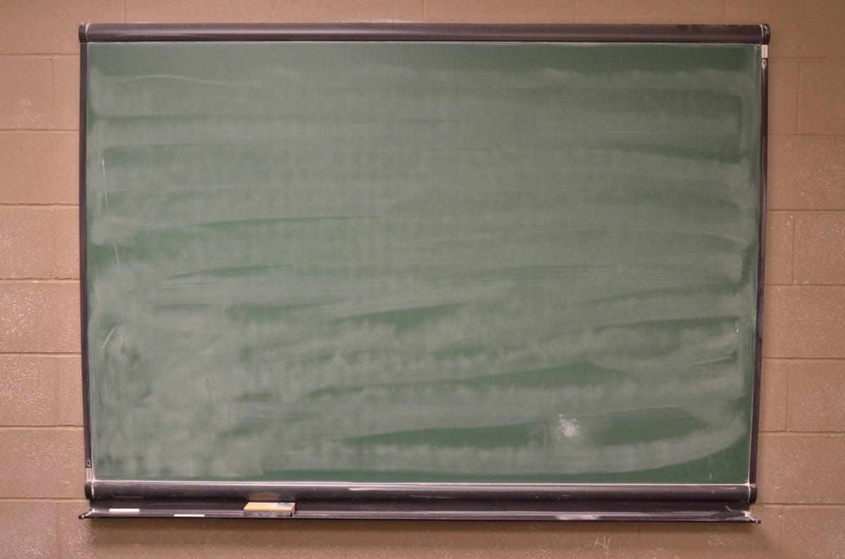Blackboard, likainen, retro, kiiltävä, seinä, rakenne, vanha