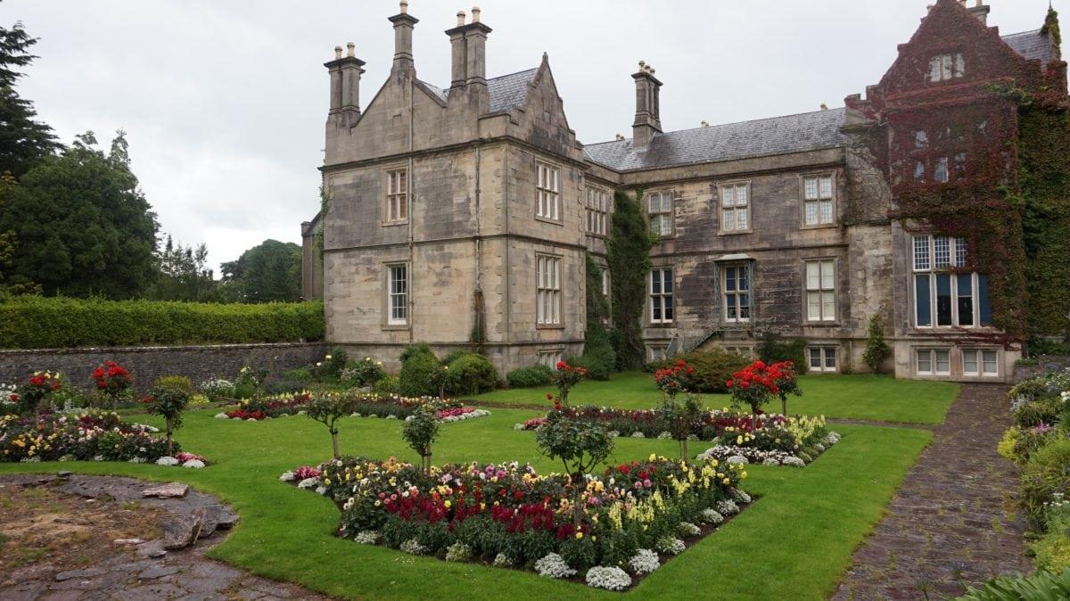 exteriér, zahrada, středověké, hrad, palác, budova, architektura, dům
