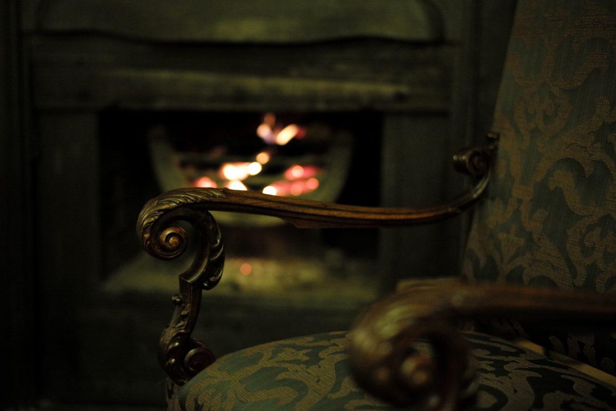 perapian, api, perangkat, di dalam ruangan, seni, kayu, model tahun, lama