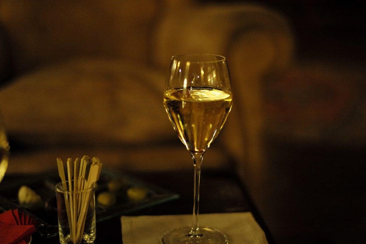 víno, nápoj, šampaňské, sklo, oslava, zátiší, strana, rozostření