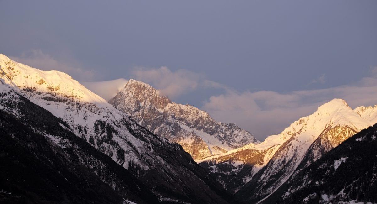 gamme, Glacier, neige, Nuage, montagnes, montagne, paysage, voyage