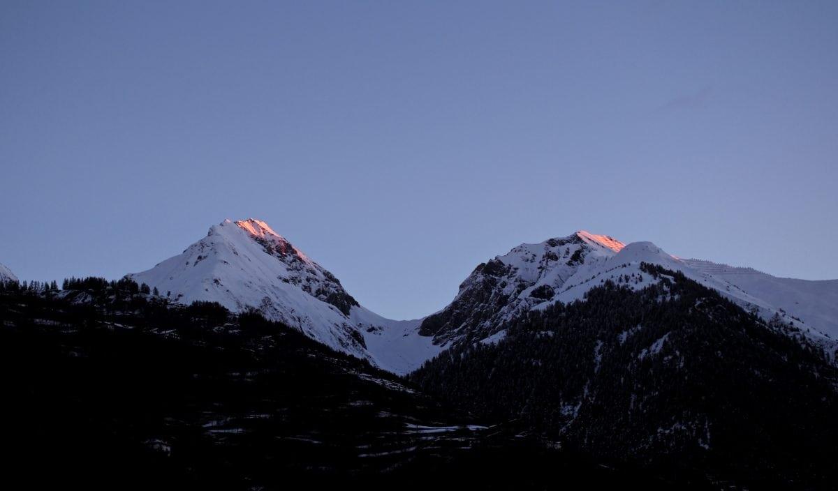 синьо небе, диапазон, сняг, планини, пейзаж, връх, планински, вулкан