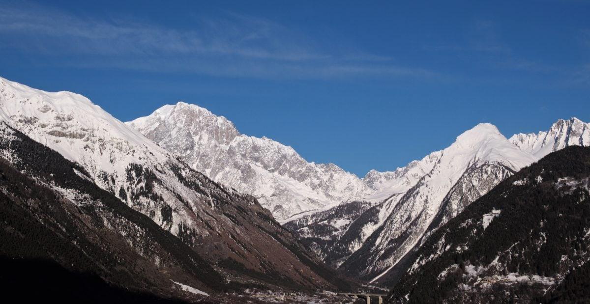 jäätikkö, maisema, huippu, lumi, vuori, vuoret, alppi, alue