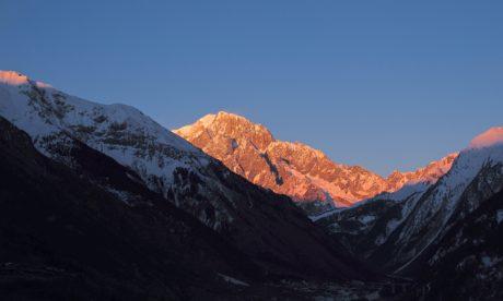 aralığı, dağlar, kar, bulut, manzara, dağ, seyahat, buz