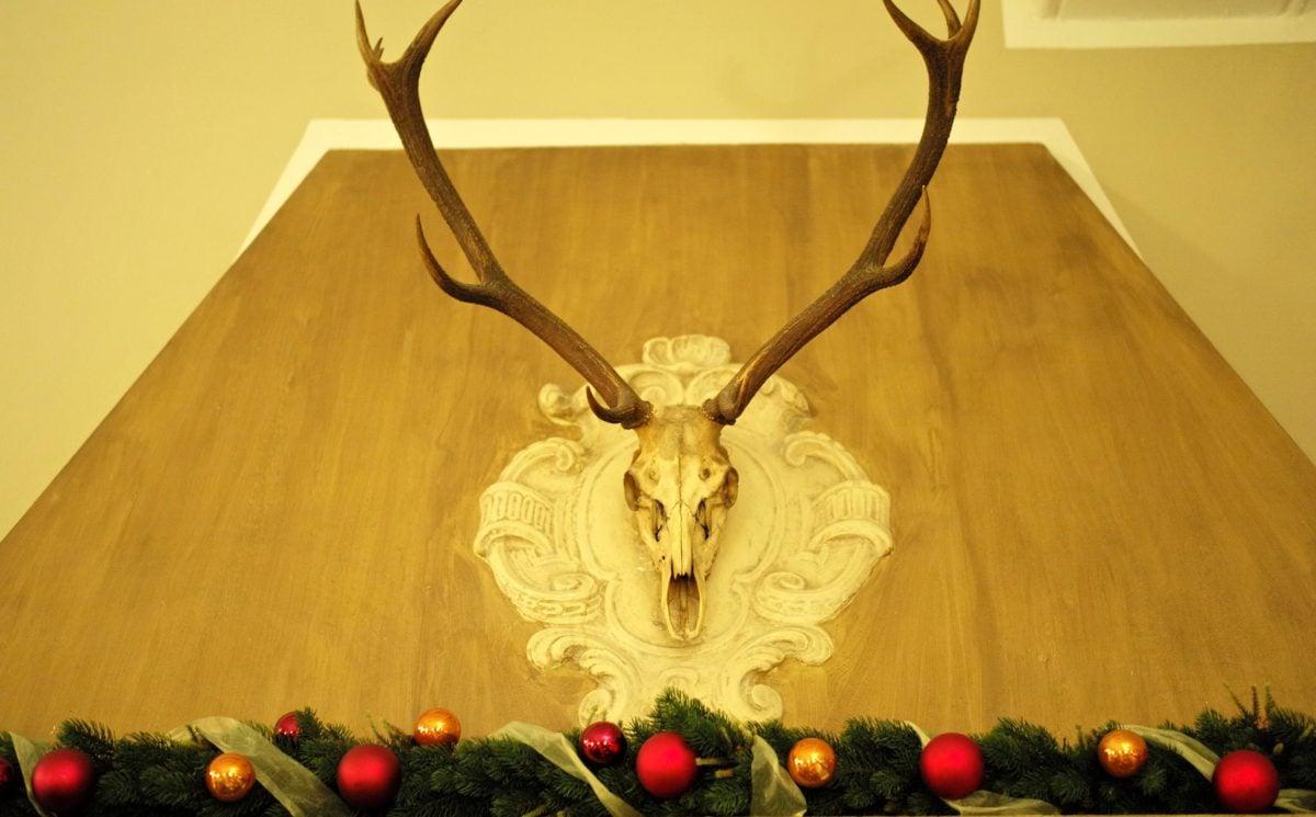 Horn, Holz, Dekoration, Tabelle, aus Holz, drinnen, Möbel, Retro
