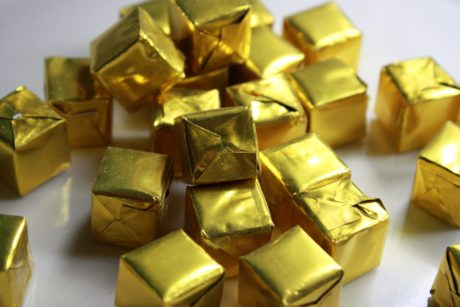 box, wrap, gift, gold, block, shining, luxury, surprise